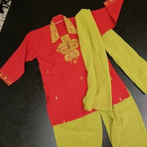 Other - Authentic Indian pant set for little girl